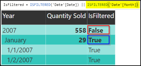 HASONEVALUE vs ISFILTERED in DAX | Mitchellsql